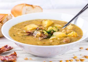 Une soupe aux pois, comme on la cuisinait dans le bon vieux temps!