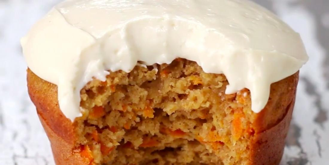 Faible En Gras Et Facile A Faire Ces Cupcakes Aux Carottes Sont Savoureux Desserts Ma Fourchette