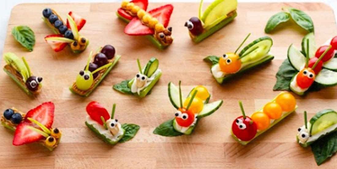 Comment créer de mignons insectes avec des légumes et des fruits