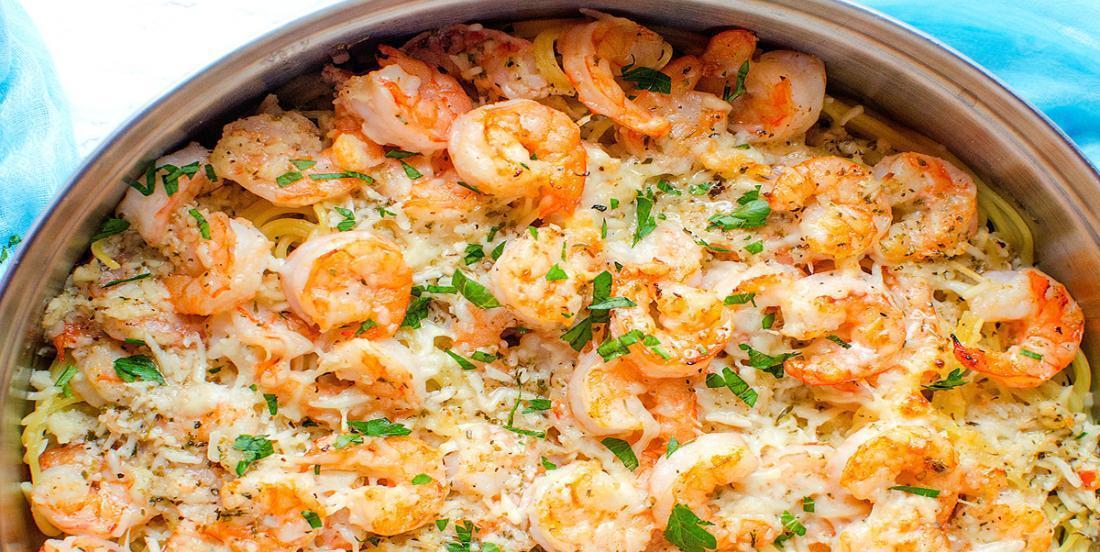 Linguine aux crevettes, sauce au parmesan! Pourquoi se priver?