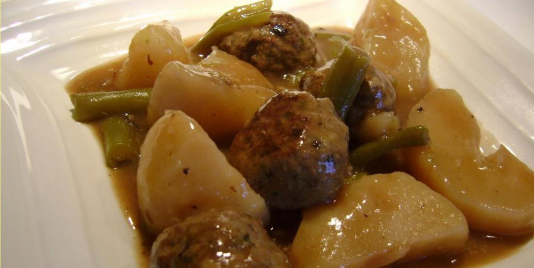 Ragoût de boulettes, une recette simple qui ne demande pas des heures de cuisson