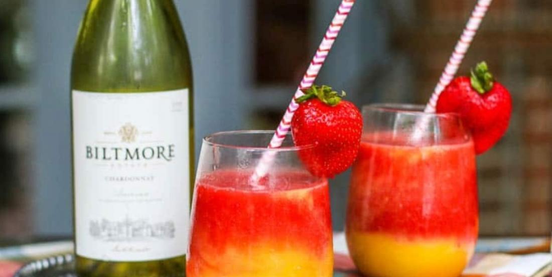 Un favori par temps chaud, la barbotine fruitée deux couleurs au vin blanc