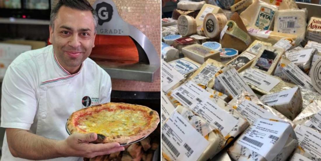 Il bat le record de la pizza avec le plus grand nombre de fromages différents à l'intérieur