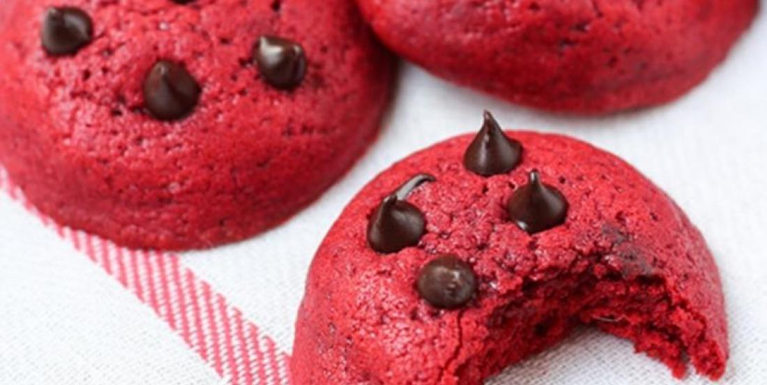 D'un rouge flamboyant...Voici le biscuit aux brisures de chocolat Red Velvet