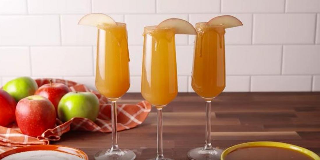 Sortez de l'ordinaire avec ce mimosa pomme-caramel