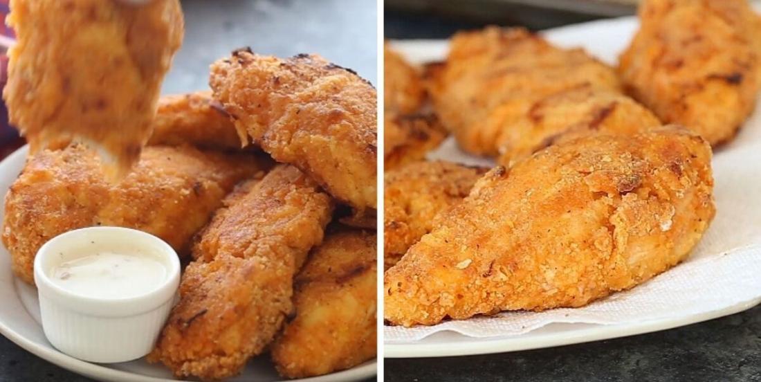Poulet croustillant à la sauce sriracha sans friture