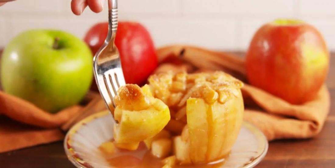 Amoureux de la tarte aux pommes? Essayez ces délicieuses pommes au four!