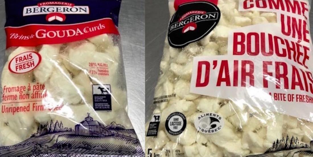 Alerte: rappel de fromages Bergeron à cause d'un risque de salmonelle