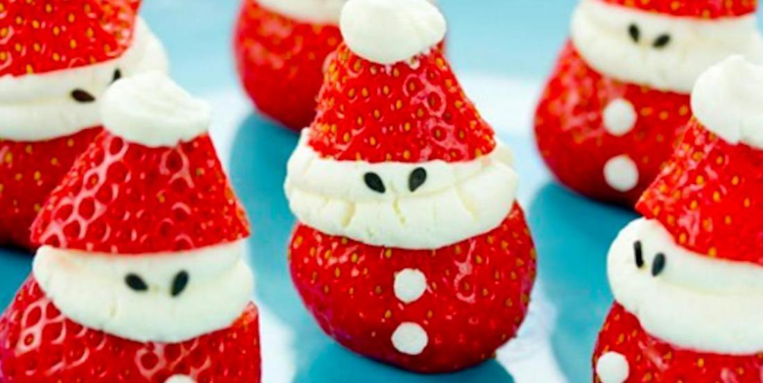 Vous craquerez pour nos Pères Noël à saveur de fraise et gâteau au fromage!