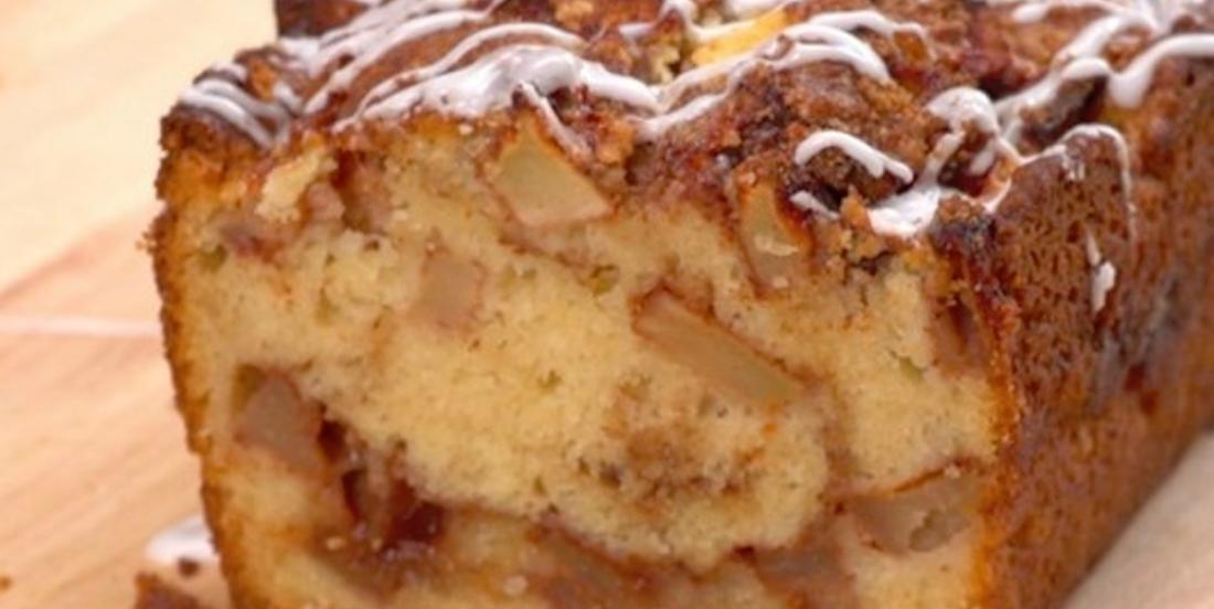 Recette réconfort: un moelleux pain de beignets aux pommes