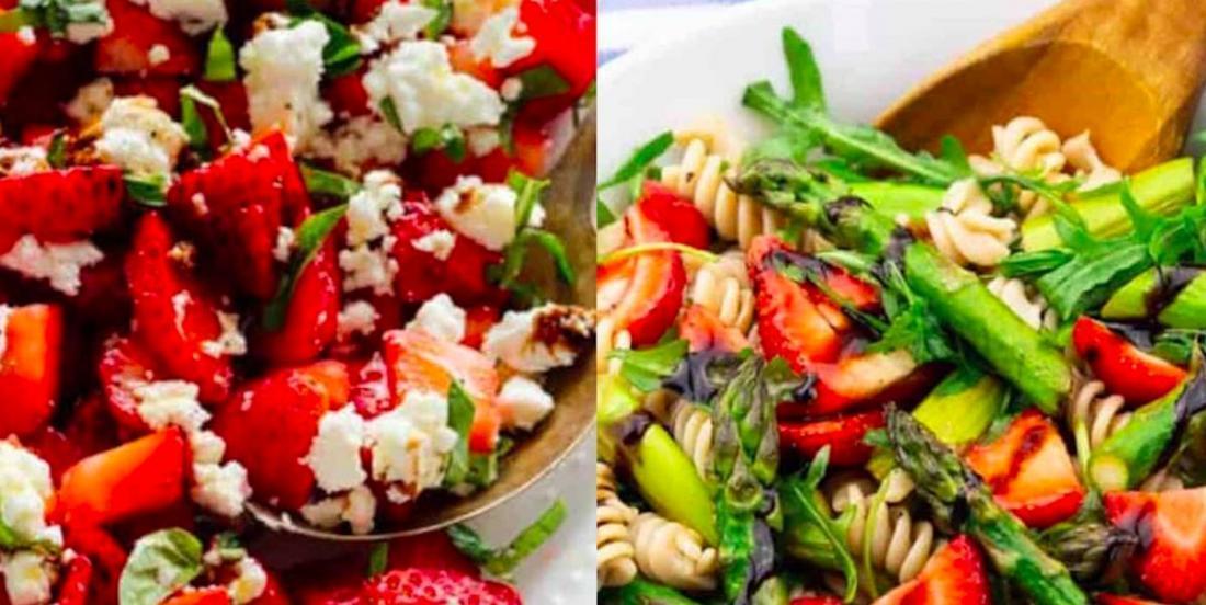 Deux salades qui brisent la routine et qui contiennent des fraises