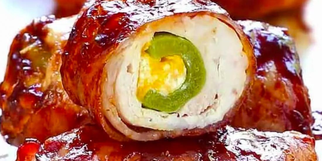 Une recette explosive pour le BBQ: des bombes de poulet et bacon!