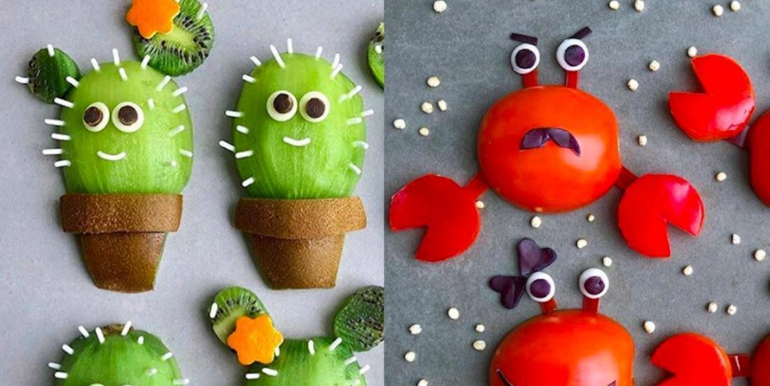 Elle crée des plats beaux et amusants, qui donnent envie aux enfants de manger sainement