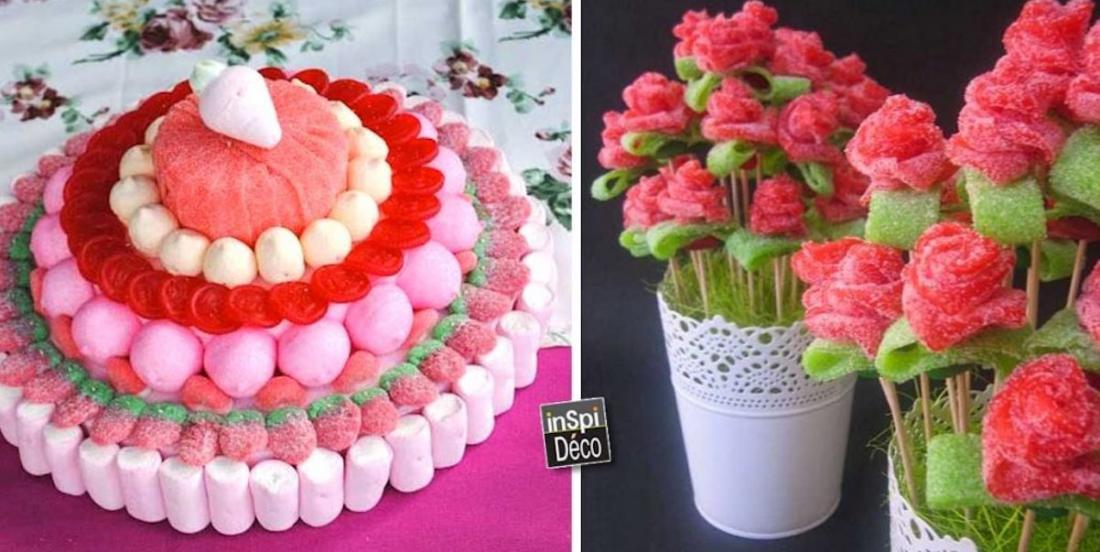 12 idées festives de décos en bonbons
