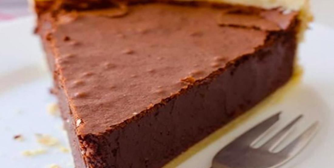 Aujourd'hui, on se gâte avec une tarte au fudge!