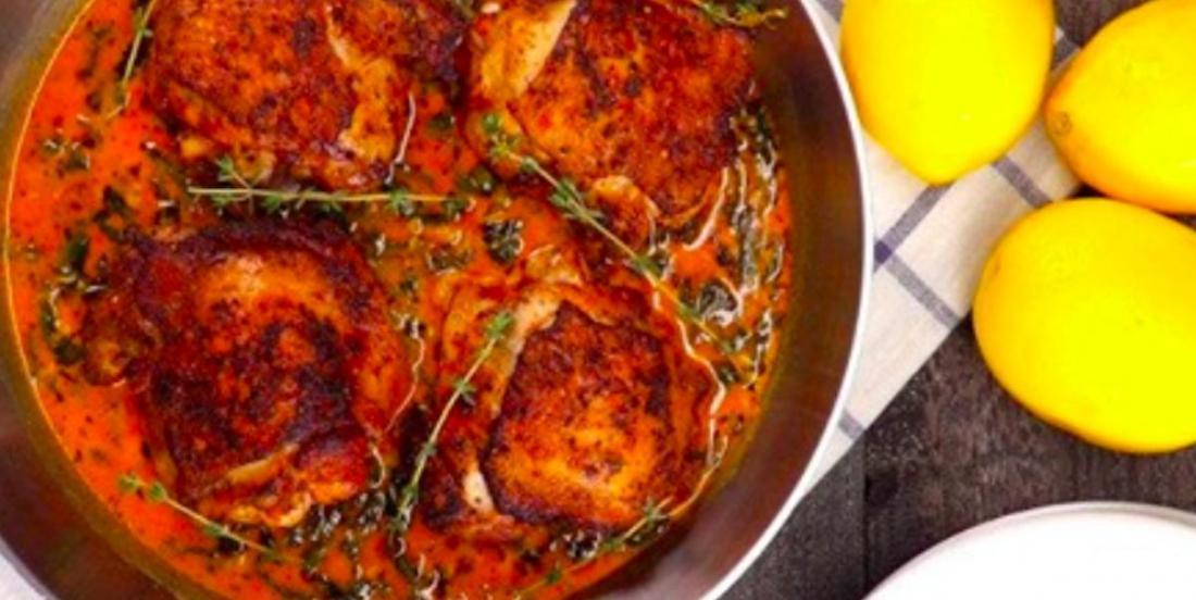 La recette facile et réconfortante du moment: le poulet au beurre et au citron dans une poêle
