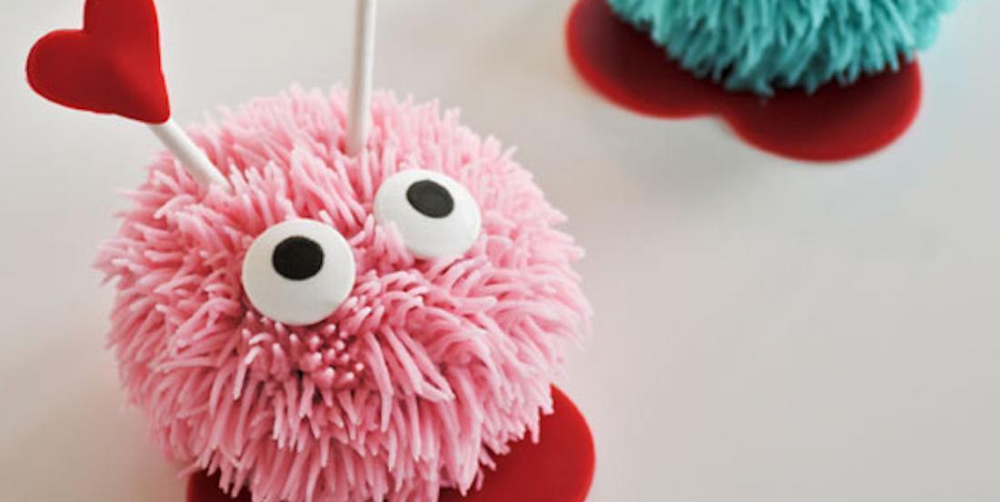 Un adorable dessert: des cupcakes «bestioles d'amour»