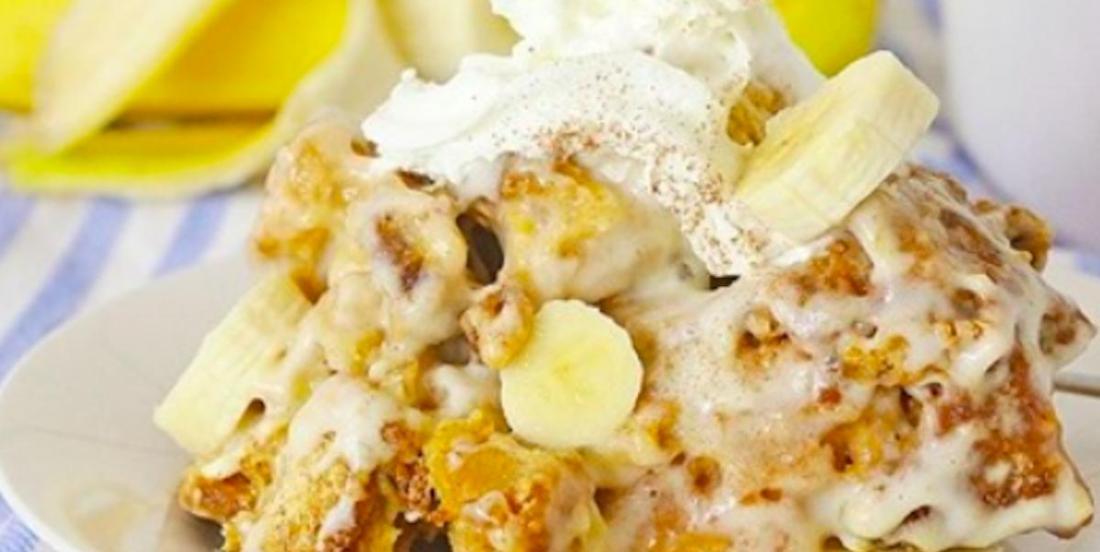 Du réconfort au creux de l'hiver: un pouding au pain à la banane à la mijoteuse!