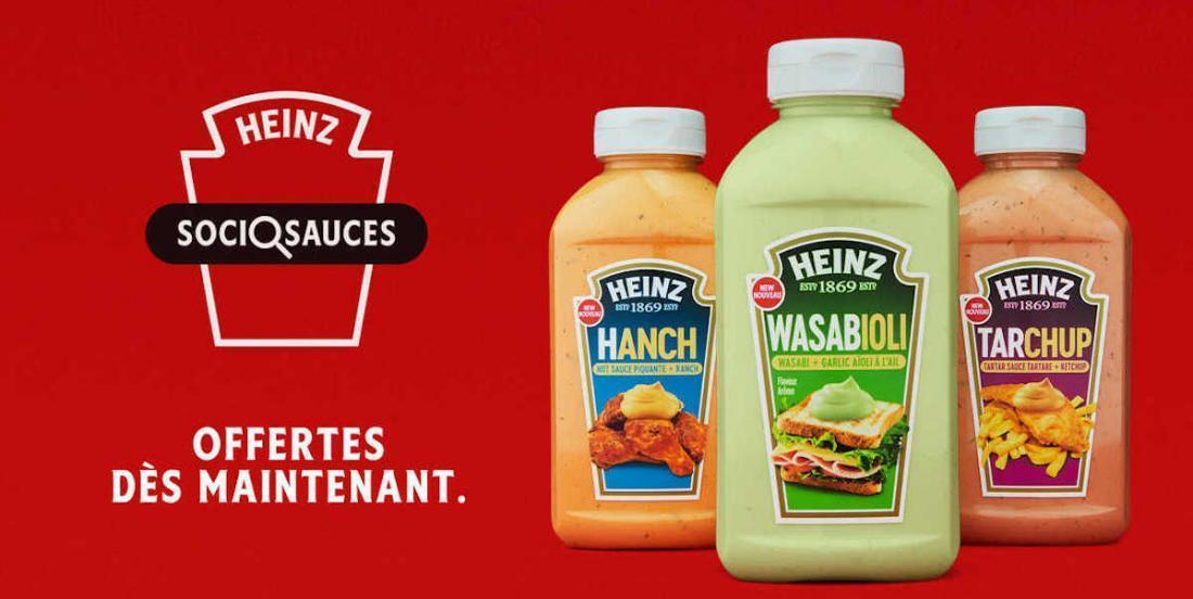 Heinz a créé 3 nouvelles sauces intrigantes