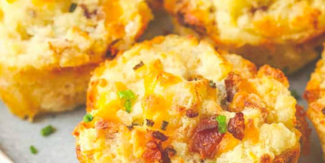 Un pur régal: des pommes de terre garnies, dans des moules à muffin