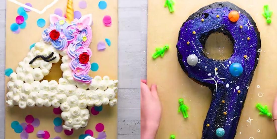 Tutoriel vidéo: comment faire des gâteaux d'anniversaire en forme de chiffres