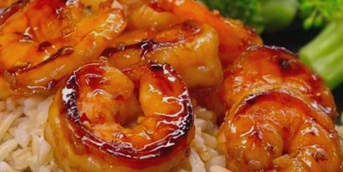 Crevettes miel et ail 10 minutes