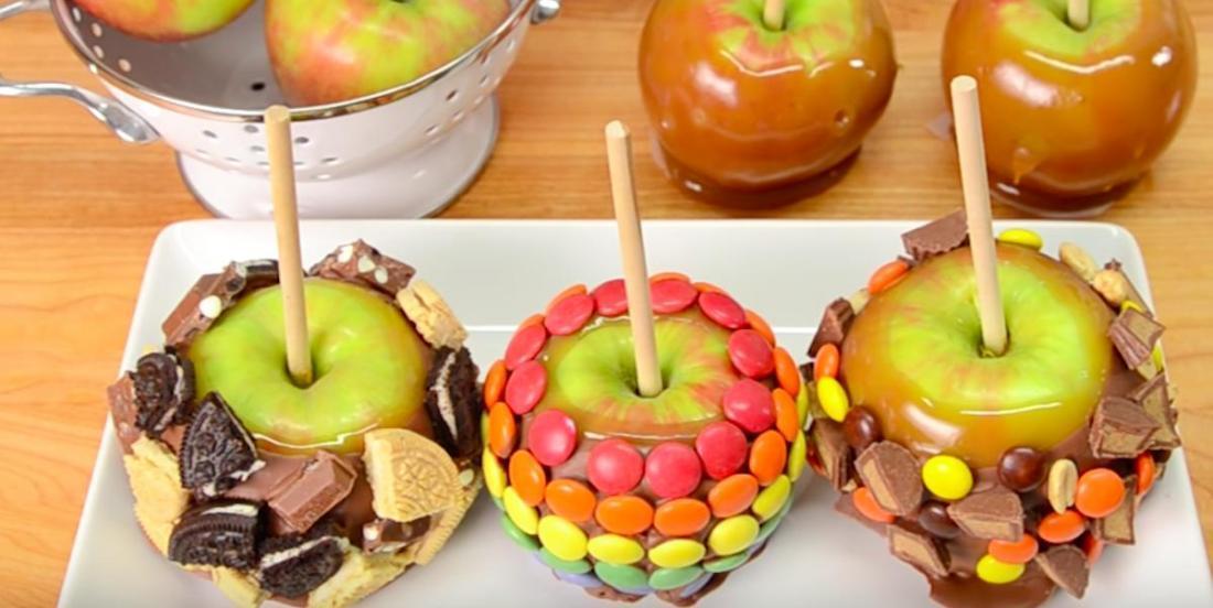 Délice sucré automnal: des pommes chocolat-caramel