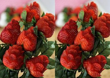 Comment faire des ROSES de fraise