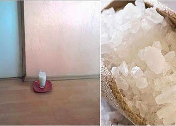 Placez un verre d'eau avec du sel et du vinaigre dans n'importe quelle pièce de votre maison...