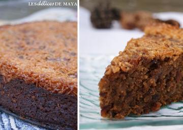 L'irrésistible gâteau du bûcheron, glacé avec un beurre de cassonade chaud