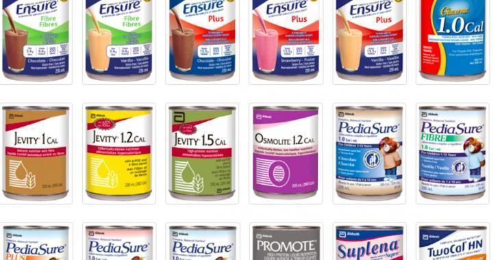 Rappel de produits Ensure et PediaSure éventuellement contaminés par une bactérie