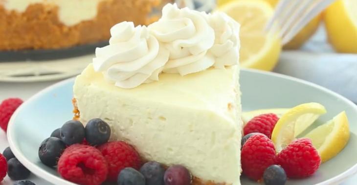 Vous craquerez pour ce gâteau au fromage citronné sans cuisson!