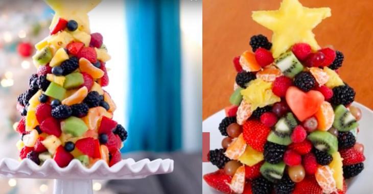 Pour les Fêtes, vous devez absolument préparer un superbe sapin fruité!