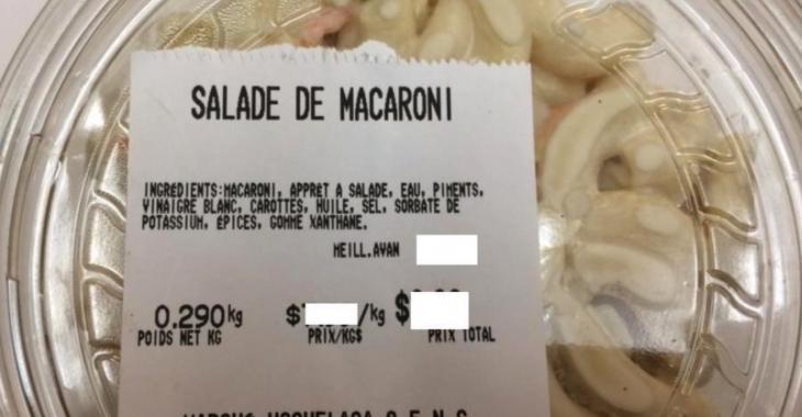 ALERTE: Important rappel de salade de macaroni et de chou.