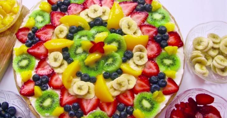 Divine pizza aux fruits