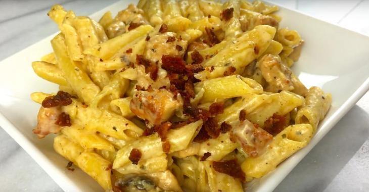 Recette réconfort: des pâtes au poulet et bacon sauce ranch