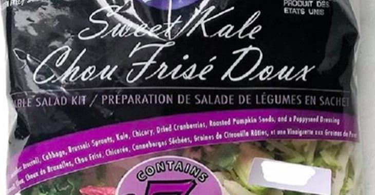 ALERTE: Rappel de mélange de salade de chou frisé