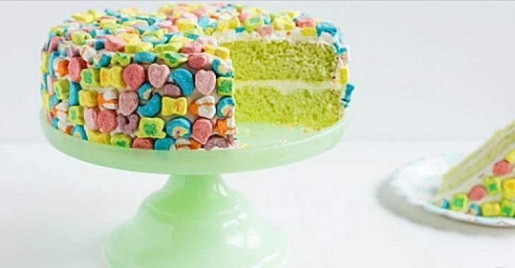 Pour la Saint-Patrick, confectionnez cet amusant gâteau aux Lucky Charms