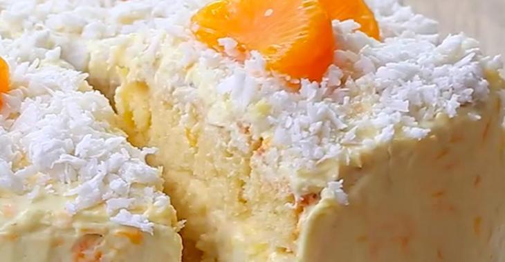 Fabuleux gâteau à la noix de coco et aux agrumes!