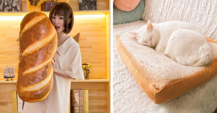 Vous aimez vraiment trop le pain? Et si vous pouviez dormir en compagnie d'une miche bien moelleuse?