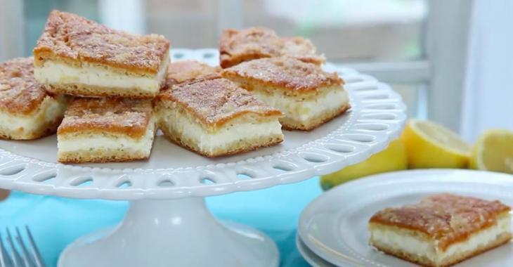Faites-vous plaisir avec nos barres au fromage à la crème et citron!