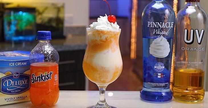 « Flotteur » alcoolisé à la crème glacée et à l'orange façon CreamSicle