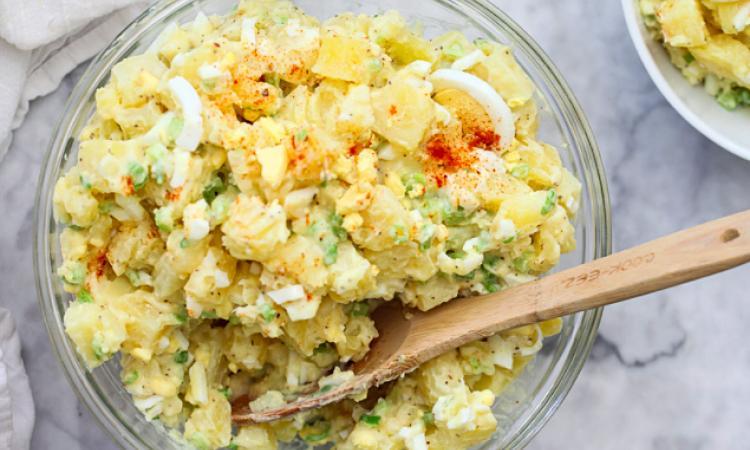 À la demande générale, voici la SALADE de pommes de terre que tout le monde s'arrache!
